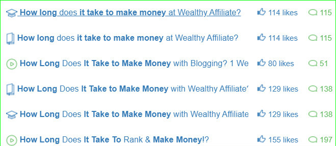 How long does it take to make money with Wealthy Affiliate?